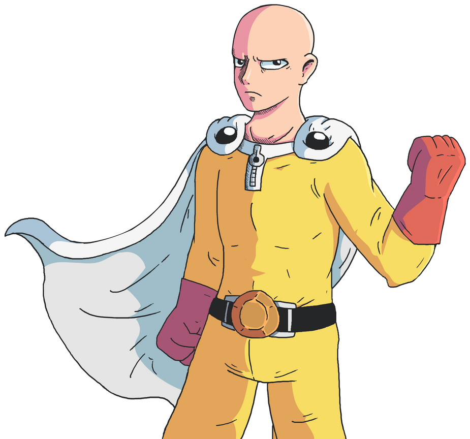 6 Anime Characters Who Can Challenge Saitama : Saitama serious by williamctz on deviantart