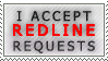I accept Redline Requests with teeth by VaraAnn-Stock