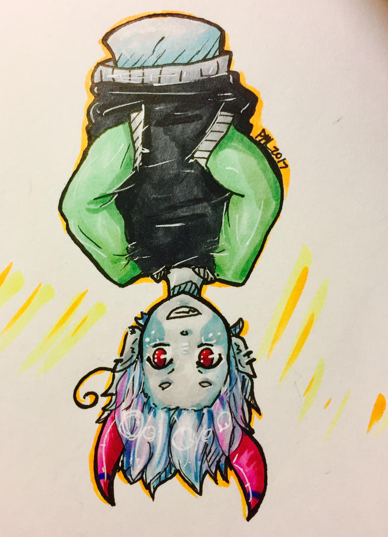 Upside Down Demon Boy! by EvilCrayonsOfDoom