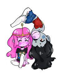 Marcy and Bonnie!  by EvilCrayonsOfDoom