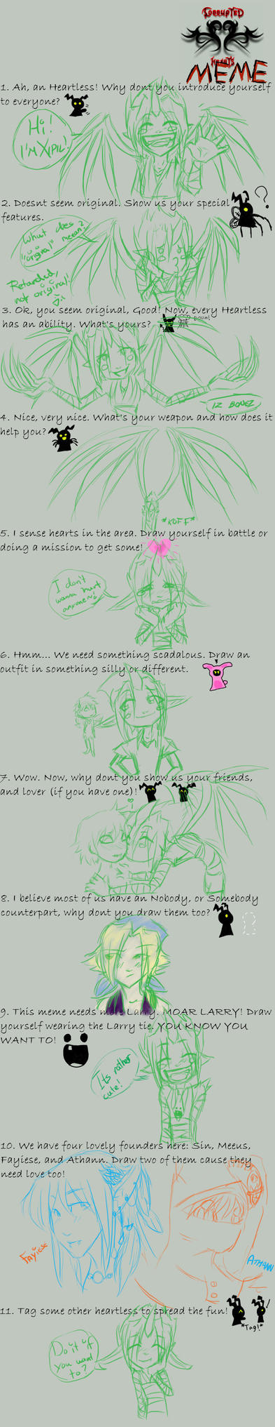 Corrupted Hearts meme :D by Mystyra