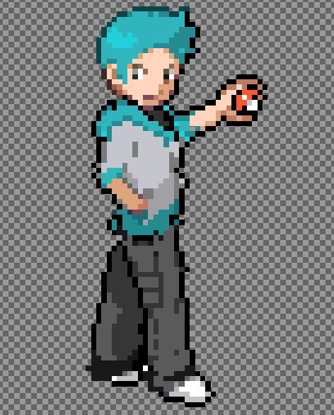 Pokemon Trainer Sprite by TechnicolorRex on DeviantArt