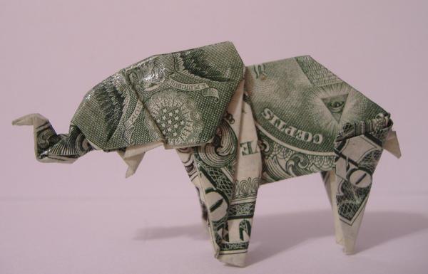 dollar origami elephant instructions