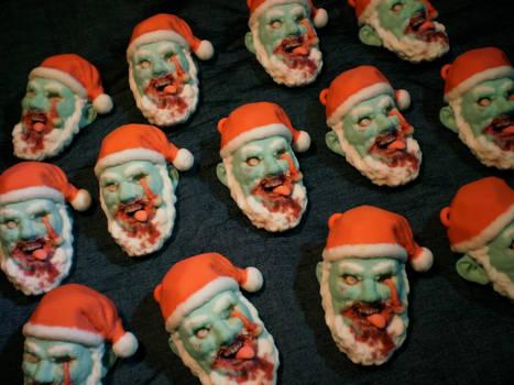 Zombie Santa Claus Ornaments