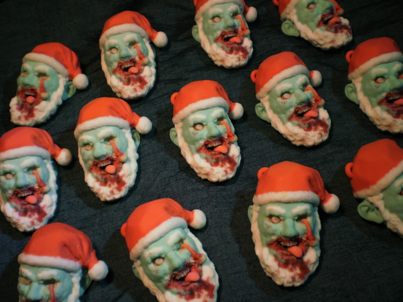 Zombie Santa Claus Ornaments by Cissell