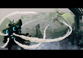 QDF - wk3 - Mech War by justinwongart