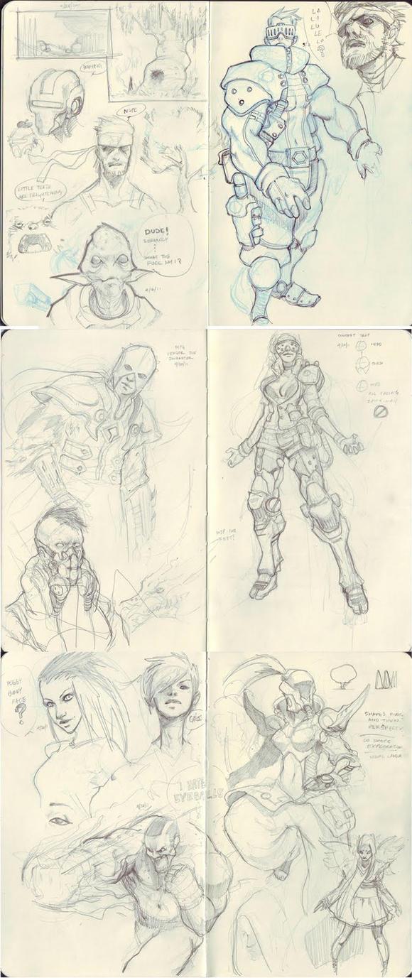 Sketch Dump 02 by failstarforever