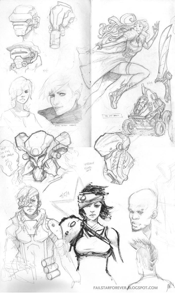 Sketch Dump 04 by failstarforever