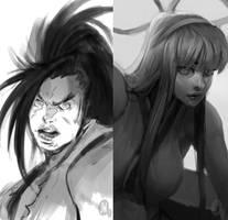 Samurai Showdown by justinwongart