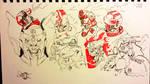 Black n Red Sketches