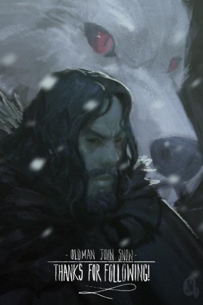 Old Man Jon Snow by failstarforever