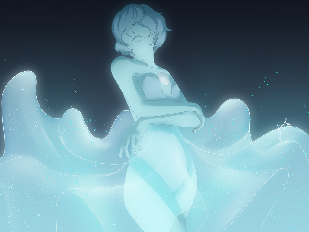 I loved the new pearls that appeared this week on the show (Out pearl will always be bae, tho) and Blue Pearl's design was really nice, so I gave it a try. It ended up being really dramatic, But I ...