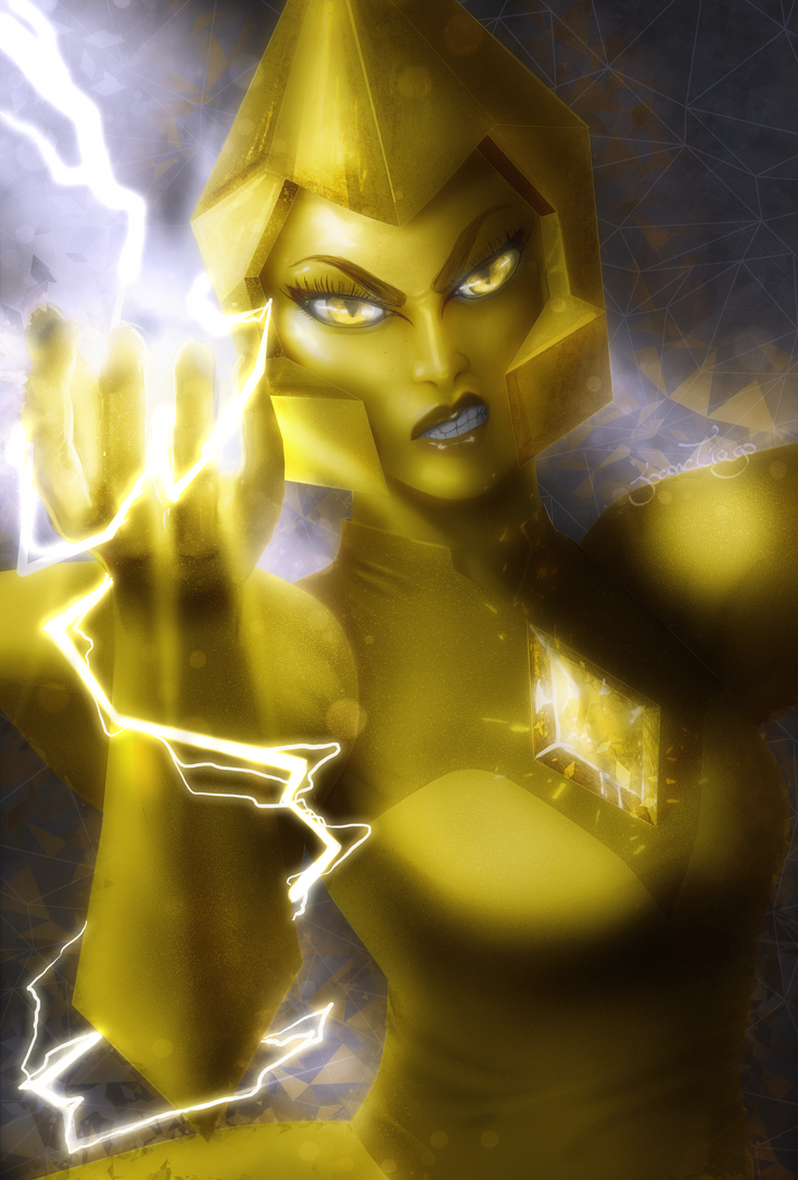 Remember my White Diamond painting? I decided to do all Diamonds. Here it is! My Yellow bae!