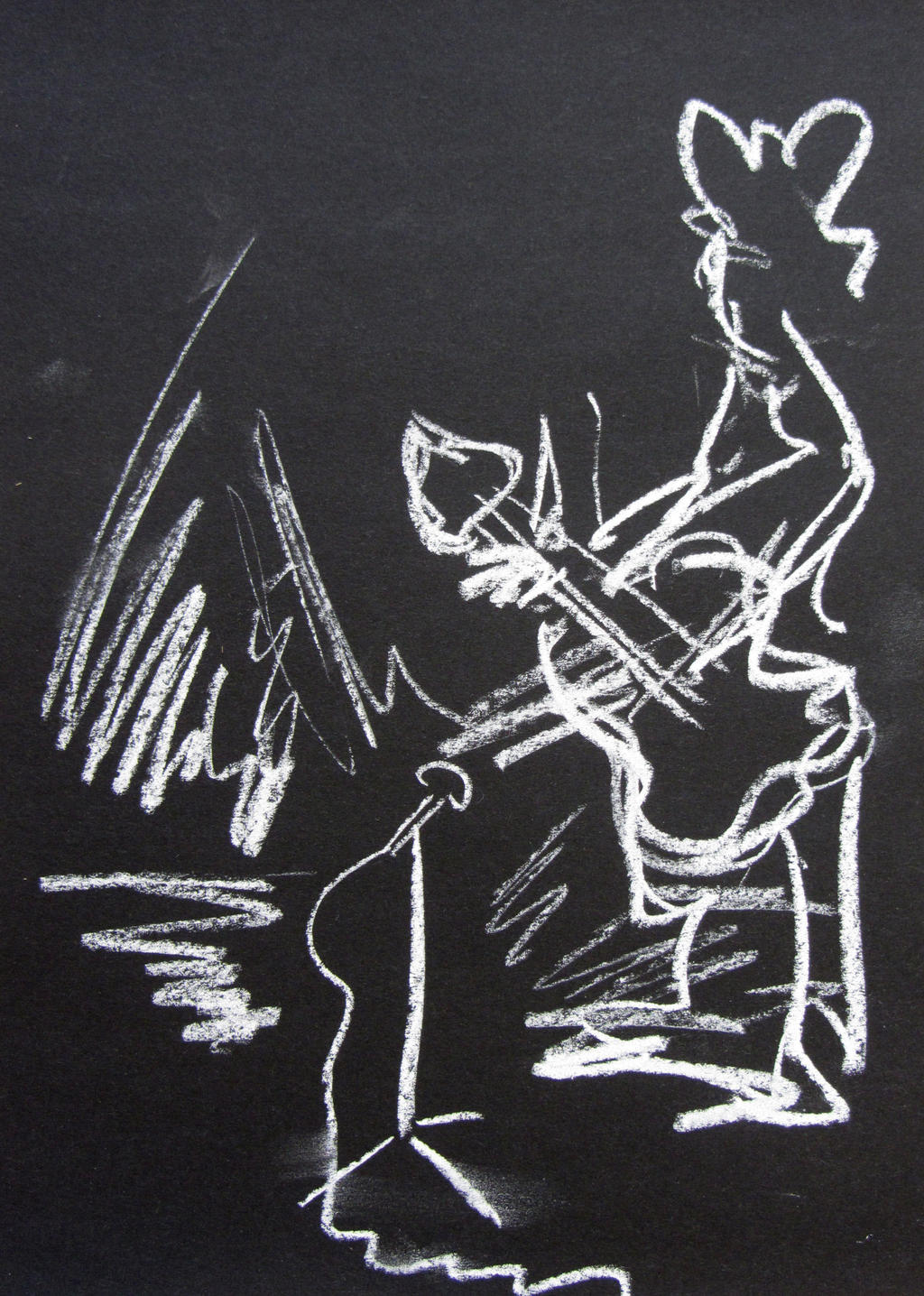 23.5.2013 Study for jazz poster white on black by ...