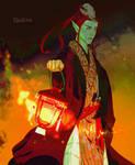 Lantern burning free by Ekalita