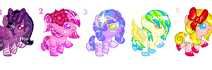 3rd batch of baby ponies adoptables by Sweet-Forest-Adopts