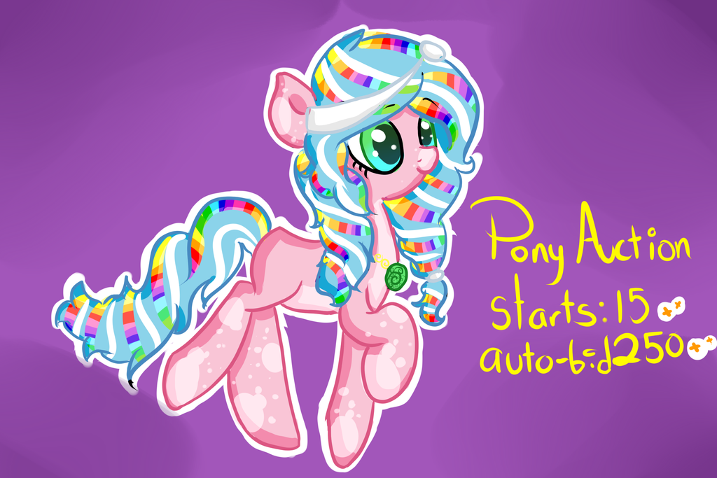 Rainbow pony Auction! CLOSED by Points-adoptables-4U
