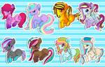 Pony adoptables batch #4.