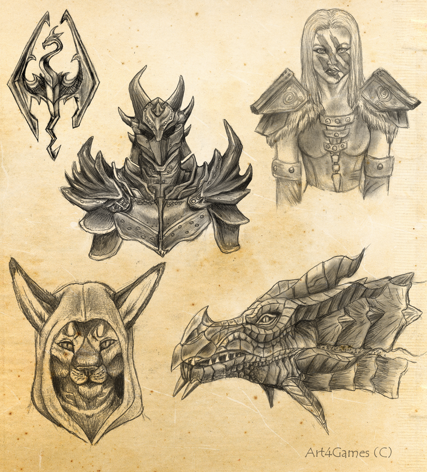 above is skyrim drawing - photo #7