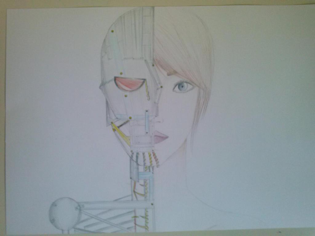 half human half robot by Emmahl on DeviantArt
