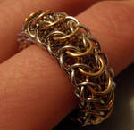 Dragon Back Chainmail Ring
