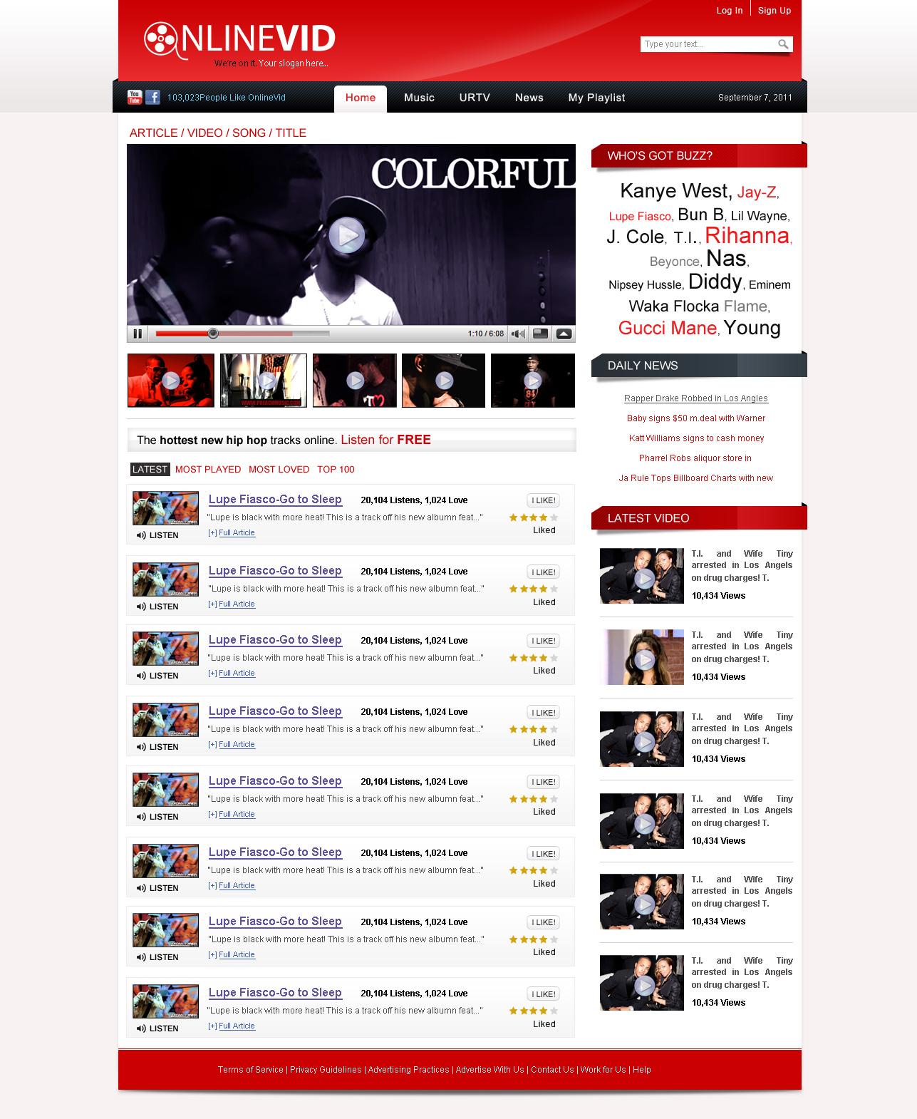 Free Download Video Web Template by NabinBuzz on DeviantArt