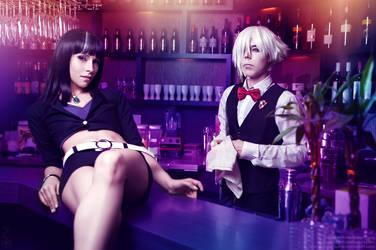 Death Parade : Decim and Chiyuki by LadyxZero