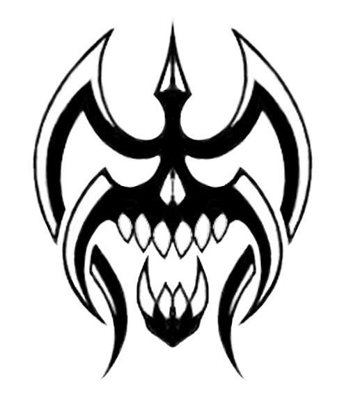 tribal skull tattoos. skull tattoos tribal skull