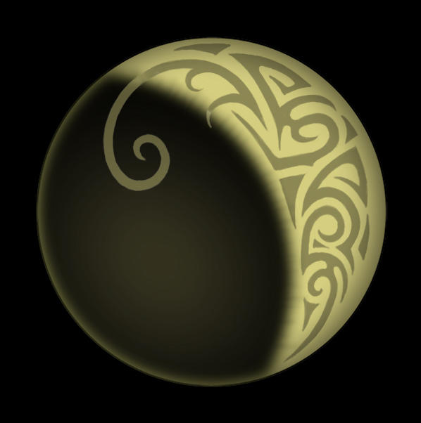 tribal moon eclipse by steelraven on deviantart. Black Bedroom Furniture Sets. Home Design Ideas