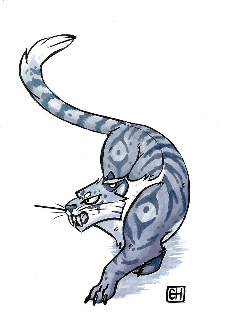 Silver tiger by Chradi