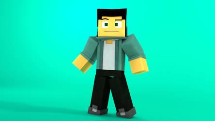Minecraft OC character: Jorge by TheProfessionalBajao