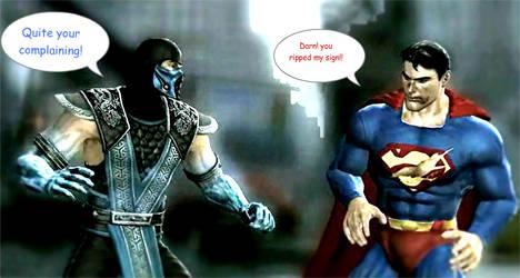 Sub Zero pwns superman