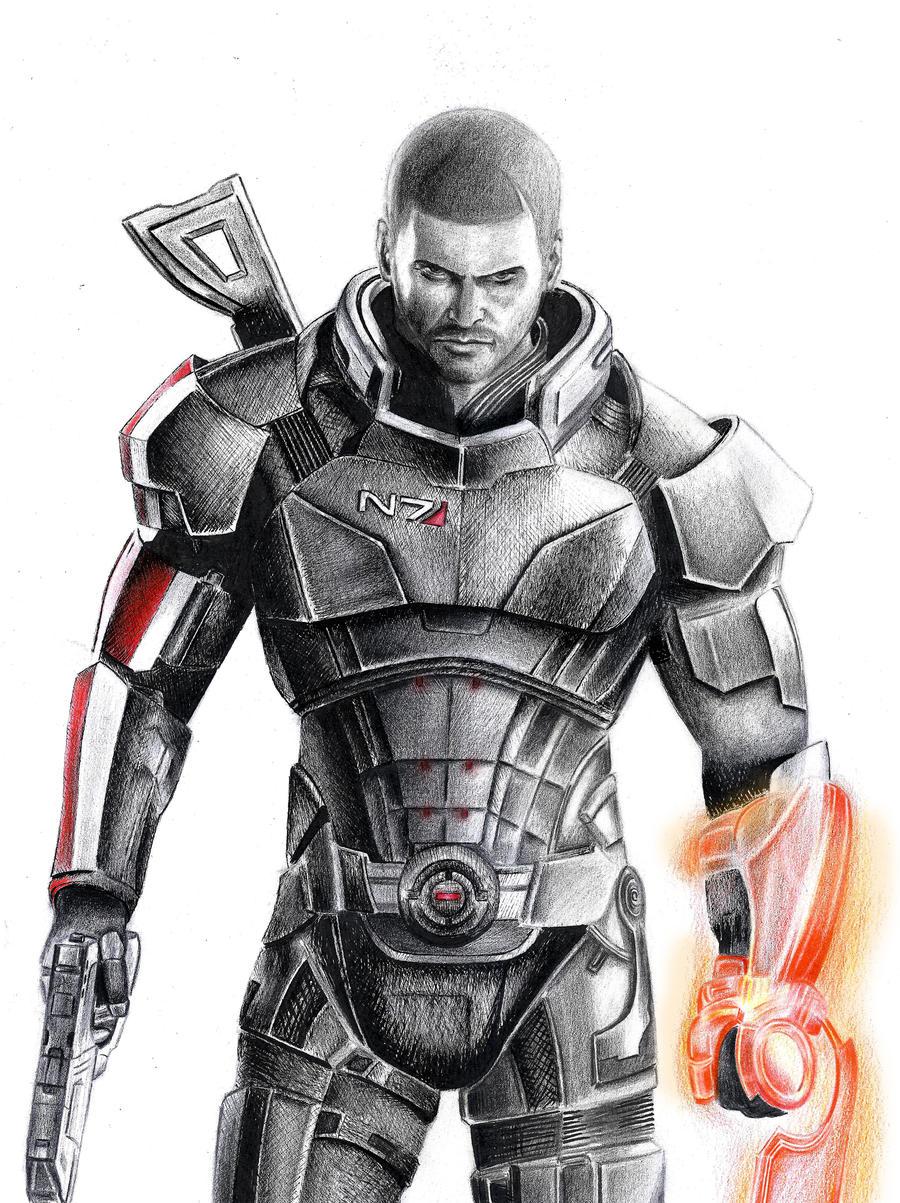 Commander Shepard by Leon8524