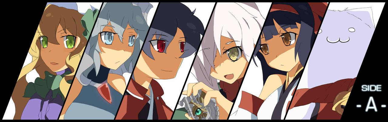 Touhou original Cast Lineup Side -A- by Altronage