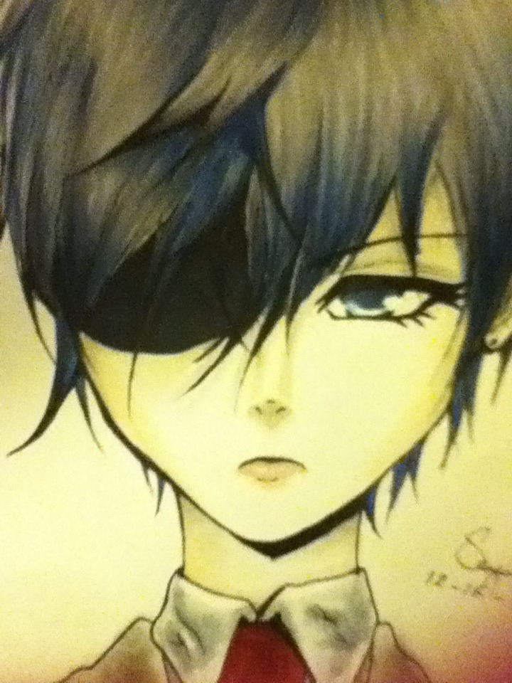 (A Close Up) Ciel Phantomhive by Saya024