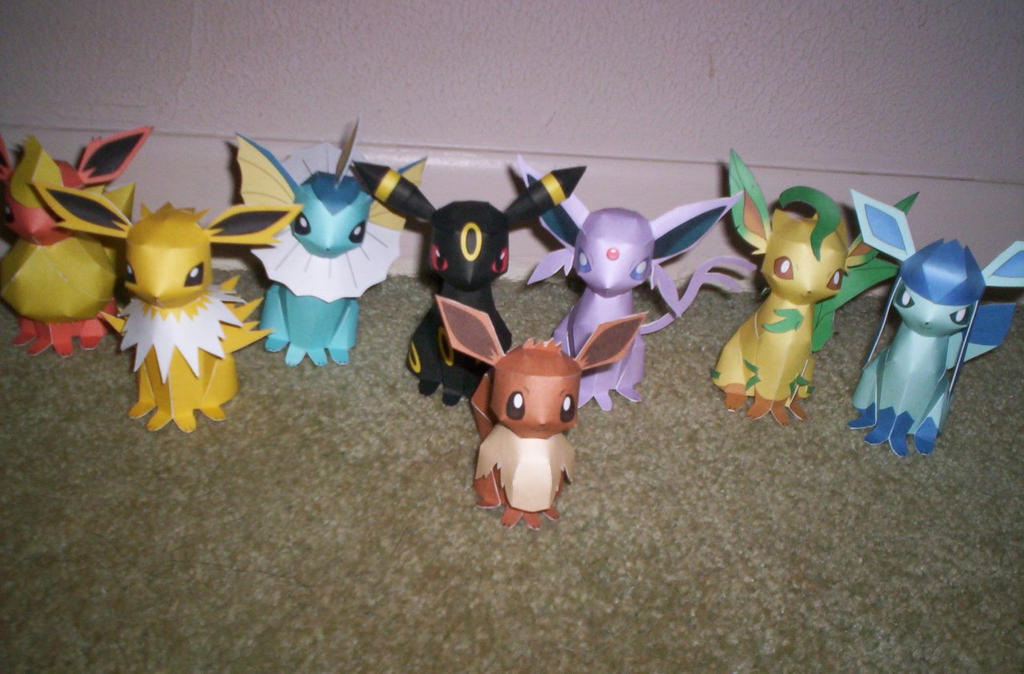 Eevee Evolution Pokemon Papercraft By Meercat122