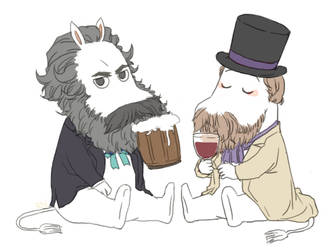 moomin Marx/Engels by RONO1848