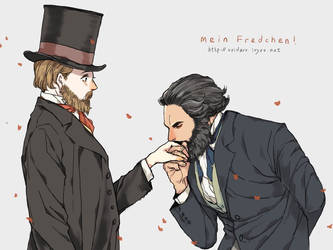 Marx/Engels by RONO1848