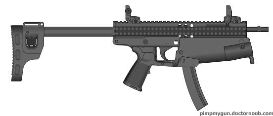 Semi - Futuristic 9mm Submachine Gun by mongoose01 on ...