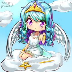 Chibi Princess Celestia (Commission) by LittleKumaArt