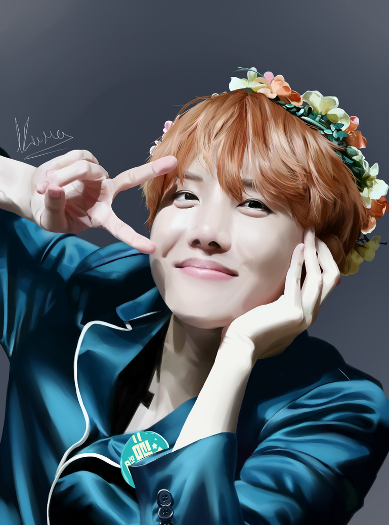 J Hope BTS Speedpaint By LittleKumaArt