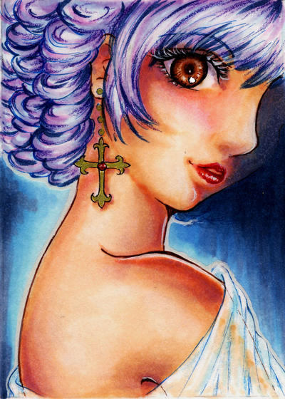 ACEO Dark Lady by ann-chan20