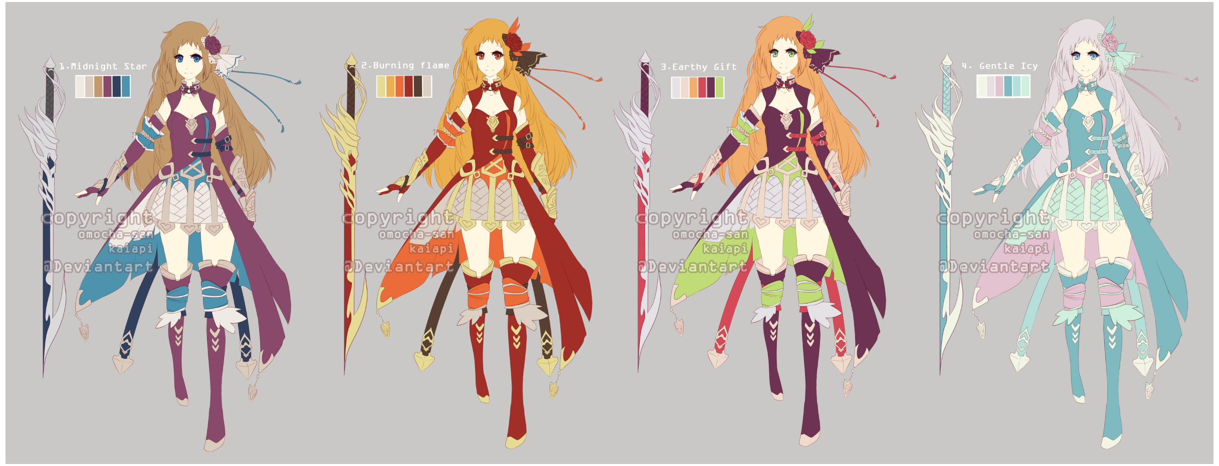 36 hour adopt  fantasy sword girl auction  closed  by kaiapi on deviantart