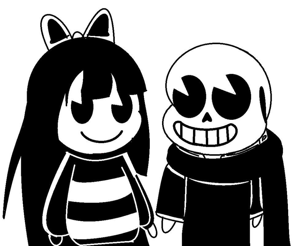 Ink Sans x Scribble Frisk [30s' ish animated style by TerenaChen