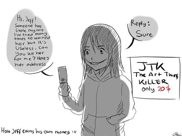 MEME: Jeff The Art Thief Killer By AiUTA31 On DeviantArt