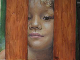 Daan, oil portrait - see my YouTube video below by MaddySwan