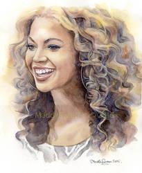 Beyonce, watercolour