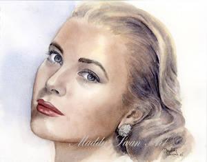 Grace Kelly - watercolour portrait