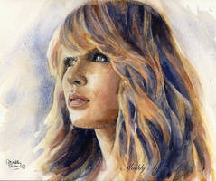 Jennifer Lawrence watercolor. See my YouTube video