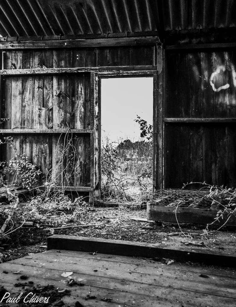 Old Barn Black And White By Chivt800